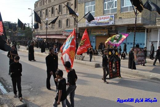 رسالة عاشوراء:احياء المواكب الحسينية لذكرى واقعة الطف في مدينة الطف - تقرير مصور- Nasiriyah001