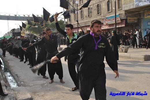رسالة عاشوراء:احياء المواكب الحسينية لذكرى واقعة الطف في مدينة الطف - تقرير مصور- Nasiriyah003