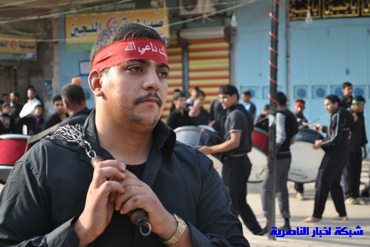 رسالة عاشوراء:احياء المواكب الحسينية لذكرى واقعة الطف في مدينة الطف - تقرير مصور- Nasiriyah004