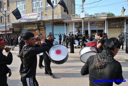 رسالة عاشوراء:احياء المواكب الحسينية لذكرى واقعة الطف في مدينة الطف - تقرير مصور- Nasiriyah005