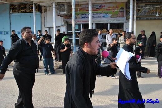 رسالة عاشوراء:احياء المواكب الحسينية لذكرى واقعة الطف في مدينة الطف - تقرير مصور- Nasiriyah006