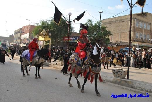 رسالة عاشوراء:احياء المواكب الحسينية لذكرى واقعة الطف في مدينة الطف - تقرير مصور- Nasiriyah008