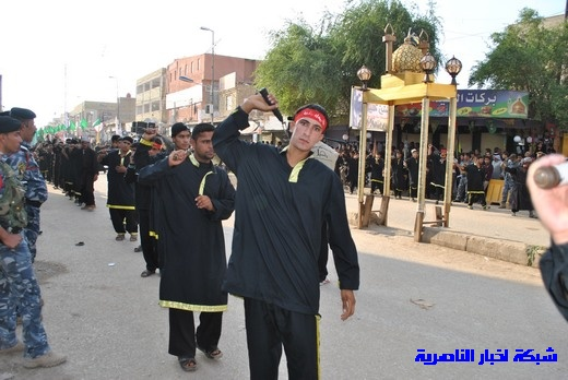 رسالة عاشوراء:احياء المواكب الحسينية لذكرى واقعة الطف في مدينة الطف - تقرير مصور- Nasiriyah009