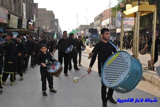 رسالة عاشوراء:احياء المواكب الحسينية لذكرى واقعة الطف في مدينة الطف - تقرير مصور- Nasiriyah010