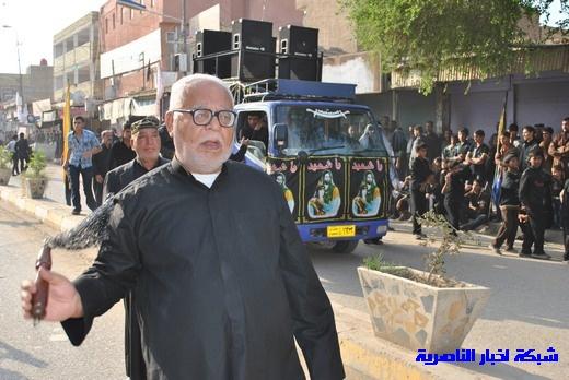 رسالة عاشوراء:احياء المواكب الحسينية لذكرى واقعة الطف في مدينة الطف - تقرير مصور- Nasiriyah011