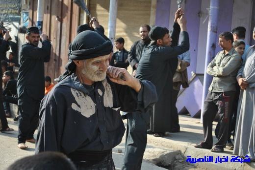 رسالة عاشوراء:احياء المواكب الحسينية لذكرى واقعة الطف في مدينة الطف - تقرير مصور- Nasiriyah015