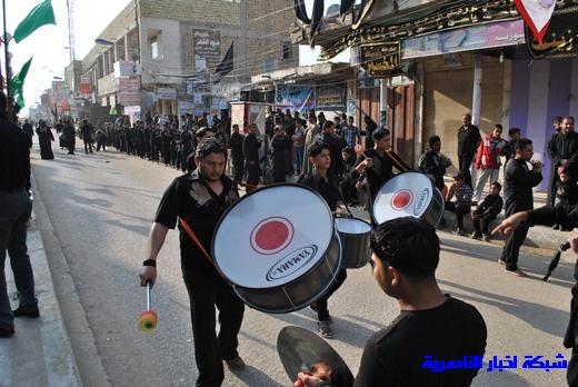رسالة عاشوراء:احياء المواكب الحسينية لذكرى واقعة الطف في مدينة الطف - تقرير مصور- Nasiriyah016