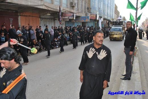 رسالة عاشوراء:احياء المواكب الحسينية لذكرى واقعة الطف في مدينة الطف - تقرير مصور- Nasiriyah017