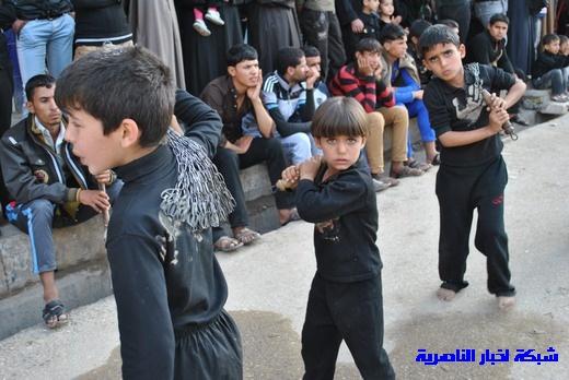 رسالة عاشوراء:احياء المواكب الحسينية لذكرى واقعة الطف في مدينة الطف - تقرير مصور- Nasiriyah018