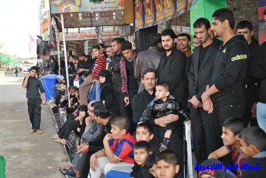 رسالة عاشوراء:احياء المواكب الحسينية لذكرى واقعة الطف في مدينة الطف - تقرير مصور- Nasiriyah021