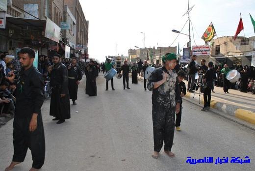 رسالة عاشوراء:احياء المواكب الحسينية لذكرى واقعة الطف في مدينة الطف - تقرير مصور- Nasiriyah022