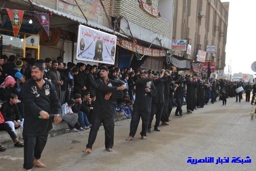 رسالة عاشوراء:احياء المواكب الحسينية لذكرى واقعة الطف في مدينة الطف - تقرير مصور- Nasiriyah023