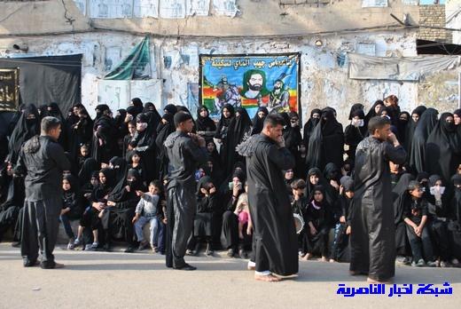 رسالة عاشوراء:احياء المواكب الحسينية لذكرى واقعة الطف في مدينة الطف - تقرير مصور- Nasiriyah024