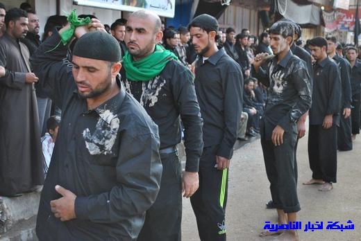 رسالة عاشوراء:احياء المواكب الحسينية لذكرى واقعة الطف في مدينة الطف - تقرير مصور- Nasiriyah025