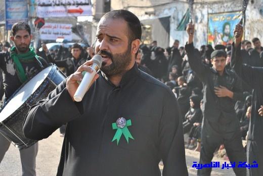 رسالة عاشوراء:احياء المواكب الحسينية لذكرى واقعة الطف في مدينة الطف - تقرير مصور- Nasiriyah026