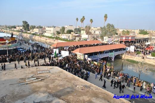 رسالة عاشوراء:احياء المواكب الحسينية لذكرى واقعة الطف في مدينة الطف - تقرير مصور- Nasiriyah027