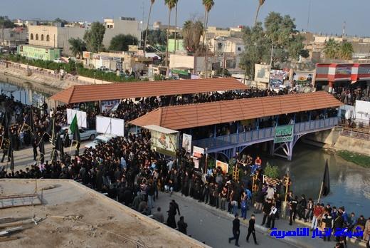 رسالة عاشوراء:احياء المواكب الحسينية لذكرى واقعة الطف في مدينة الطف - تقرير مصور- Nasiriyah028