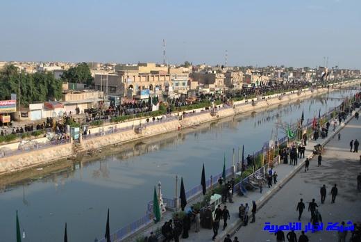 رسالة عاشوراء:احياء المواكب الحسينية لذكرى واقعة الطف في مدينة الطف - تقرير مصور- Nasiriyah029