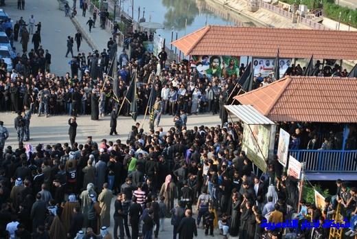 رسالة عاشوراء:احياء المواكب الحسينية لذكرى واقعة الطف في مدينة الطف - تقرير مصور- Nasiriyah030