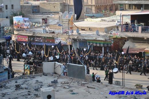رسالة عاشوراء:احياء المواكب الحسينية لذكرى واقعة الطف في مدينة الطف - تقرير مصور- Nasiriyah031