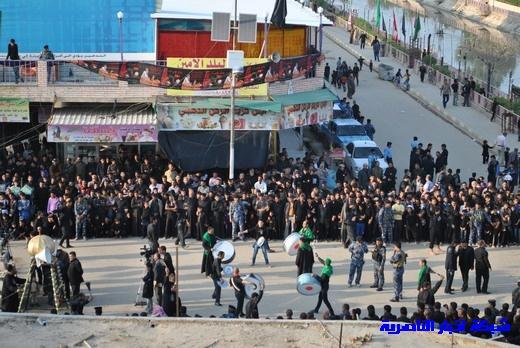 رسالة عاشوراء:احياء المواكب الحسينية لذكرى واقعة الطف في مدينة الطف - تقرير مصور- Nasiriyah032