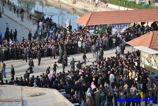 رسالة عاشوراء:احياء المواكب الحسينية لذكرى واقعة الطف في مدينة الطف - تقرير مصور- Nasiriyah033