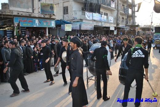 رسالة عاشوراء:احياء المواكب الحسينية لذكرى واقعة الطف في مدينة الطف - تقرير مصور- Nasiriyah035
