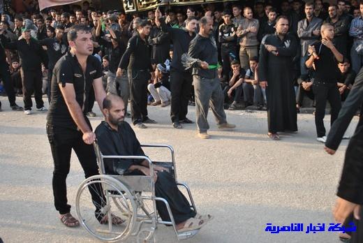 رسالة عاشوراء:احياء المواكب الحسينية لذكرى واقعة الطف في مدينة الطف - تقرير مصور- Nasiriyah036