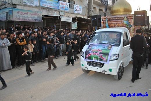 رسالة عاشوراء:احياء المواكب الحسينية لذكرى واقعة الطف في مدينة الطف - تقرير مصور- Nasiriyah037