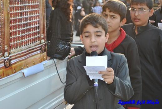 رسالة عاشوراء:احياء المواكب الحسينية لذكرى واقعة الطف في مدينة الطف - تقرير مصور- Nasiriyah038