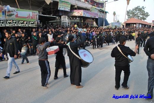 رسالة عاشوراء:احياء المواكب الحسينية لذكرى واقعة الطف في مدينة الطف - تقرير مصور- Nasiriyah039