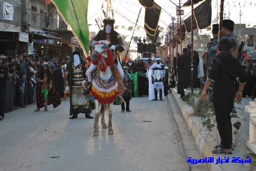 رسالة عاشوراء:احياء المواكب الحسينية لذكرى واقعة الطف في مدينة الطف - تقرير مصور- Nasiriyah040