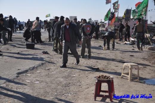 صور حصرية التقطت بعد لحظات من وقوع الانفجار الارهابي في مدينة البطحاء Nasiriyah008