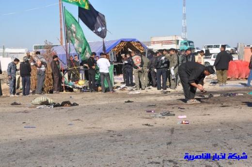 صور حصرية التقطت بعد لحظات من وقوع الانفجار الارهابي في مدينة البطحاء Nasiriyah012