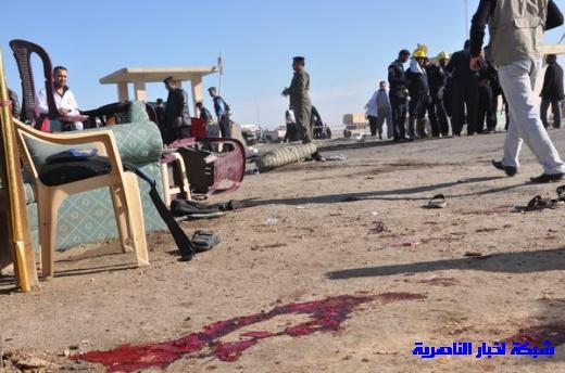 صور حصرية التقطت بعد لحظات من وقوع الانفجار الارهابي في مدينة البطحاء Nasiriyah014