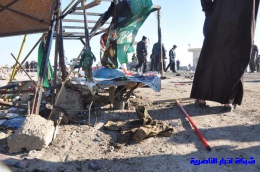 صور حصرية التقطت بعد لحظات من وقوع الانفجار الارهابي في مدينة البطحاء Nasiriyah021