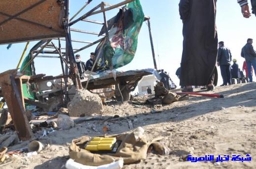 صور حصرية التقطت بعد لحظات من وقوع الانفجار الارهابي في مدينة البطحاء Nasiriyah023
