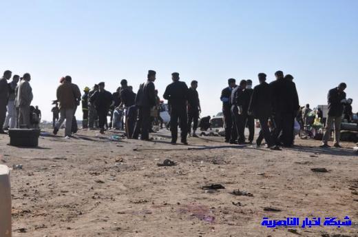 صور حصرية التقطت بعد لحظات من وقوع الانفجار الارهابي في مدينة البطحاء Nasiriyah027