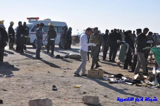 صور حصرية التقطت بعد لحظات من وقوع الانفجار الارهابي في مدينة البطحاء Nasiriyah029