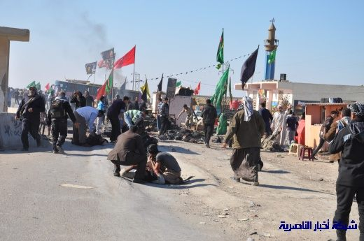 صور حصرية التقطت بعد لحظات من وقوع الانفجار الارهابي في مدينة البطحاء Nasiriyah002