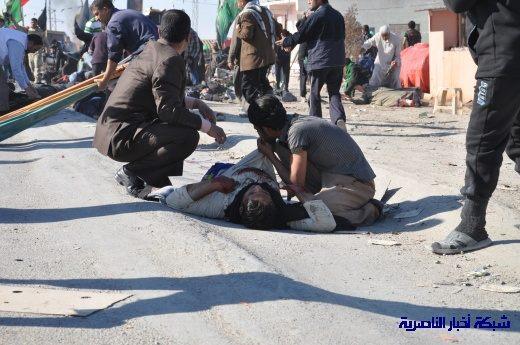 صور حصرية التقطت بعد لحظات من وقوع الانفجار الارهابي في مدينة البطحاء Nasiriyah003
