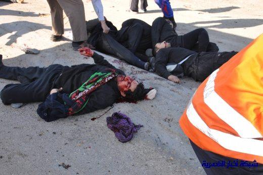 صور حصرية التقطت بعد لحظات من وقوع الانفجار الارهابي في مدينة البطحاء Nasiriyah005
