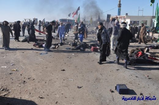 صور حصرية التقطت بعد لحظات من وقوع الانفجار الارهابي في مدينة البطحاء Nasiriyah006
