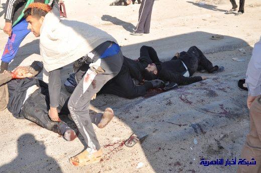 صور حصرية التقطت بعد لحظات من وقوع الانفجار الارهابي في مدينة البطحاء Nasiriyah009
