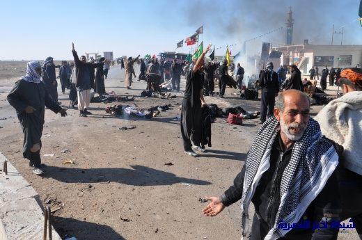 صور حصرية التقطت بعد لحظات من وقوع الانفجار الارهابي في مدينة البطحاء Nasiriyah010