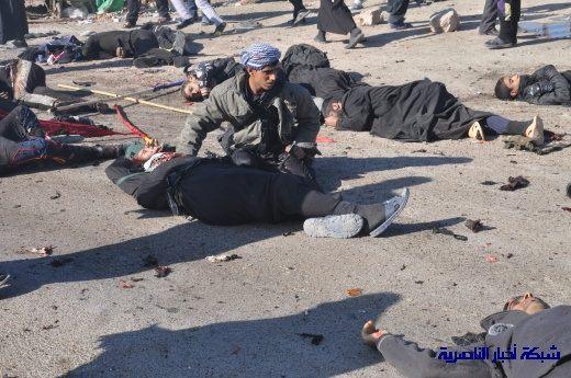 صور حصرية التقطت بعد لحظات من وقوع الانفجار الارهابي في مدينة البطحاء Nasiriyah011