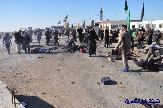 صور حصرية التقطت بعد لحظات من وقوع الانفجار الارهابي في مدينة البطحاء Nasiriyah013