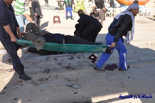 صور حصرية التقطت بعد لحظات من وقوع الانفجار الارهابي في مدينة البطحاء Nasiriyah016