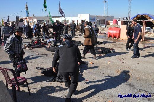 صور حصرية التقطت بعد لحظات من وقوع الانفجار الارهابي في مدينة البطحاء Nasiriyah017