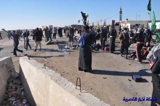 صور حصرية التقطت بعد لحظات من وقوع الانفجار الارهابي في مدينة البطحاء Nasiriyah018